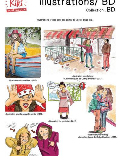 Illustrations humoristiques BD