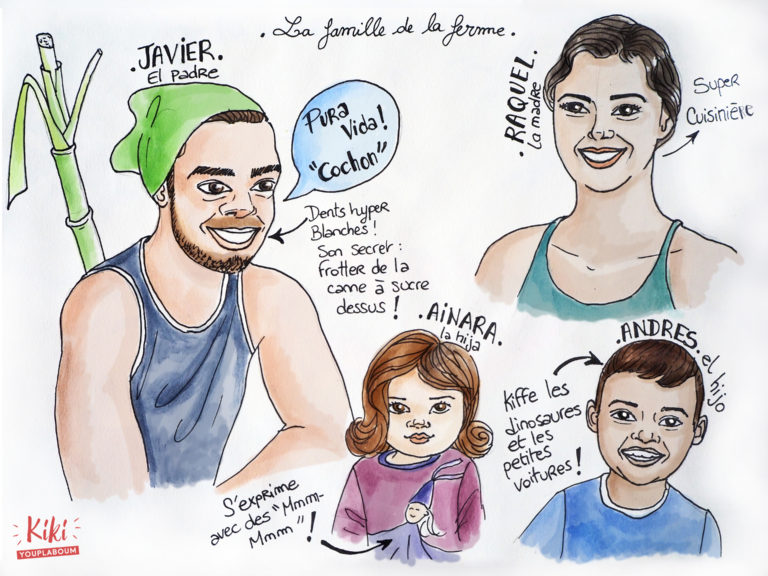 illustration Costa Rica famille
