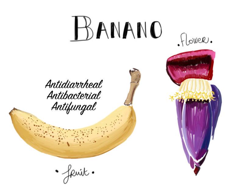 Illustration banane Costa Rica