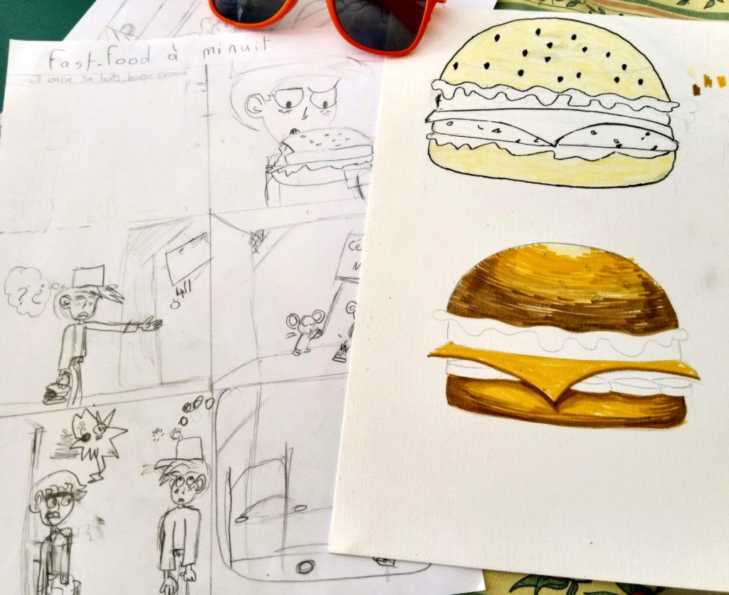 illustration burger