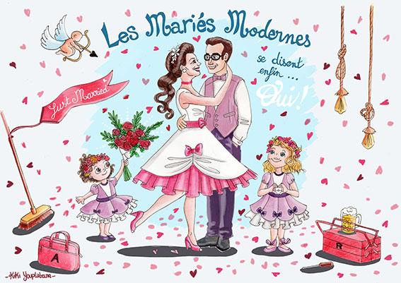 Illustration personnalisée mariage