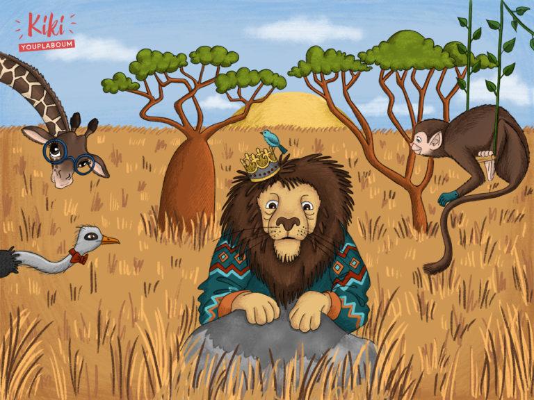 Illustration lion jeunesse