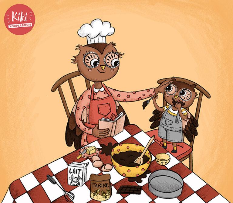 illustration de couverture album p'tit hibou