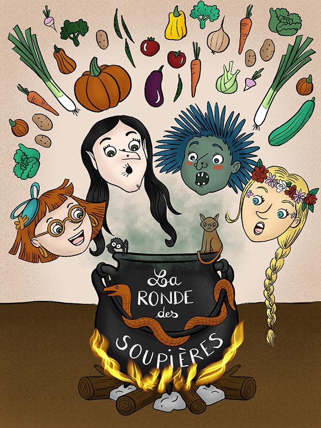 """Illustration de couverture """"La ronde des soupières"""""""