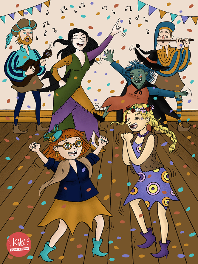 Illustration danse des sorcières