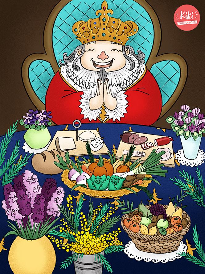 Illustration festin du roi