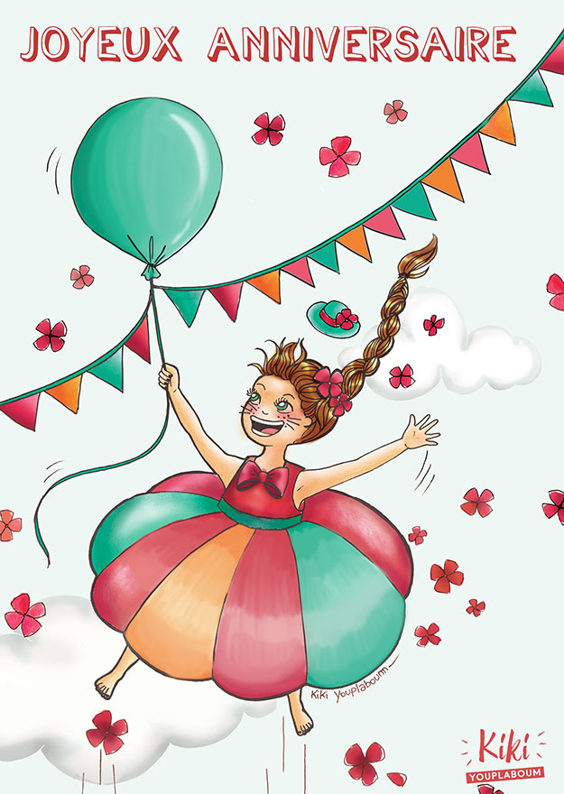 illustration joyeux anniversaire