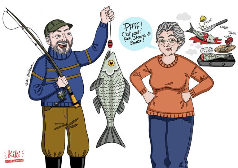 illustration personnalisée parents