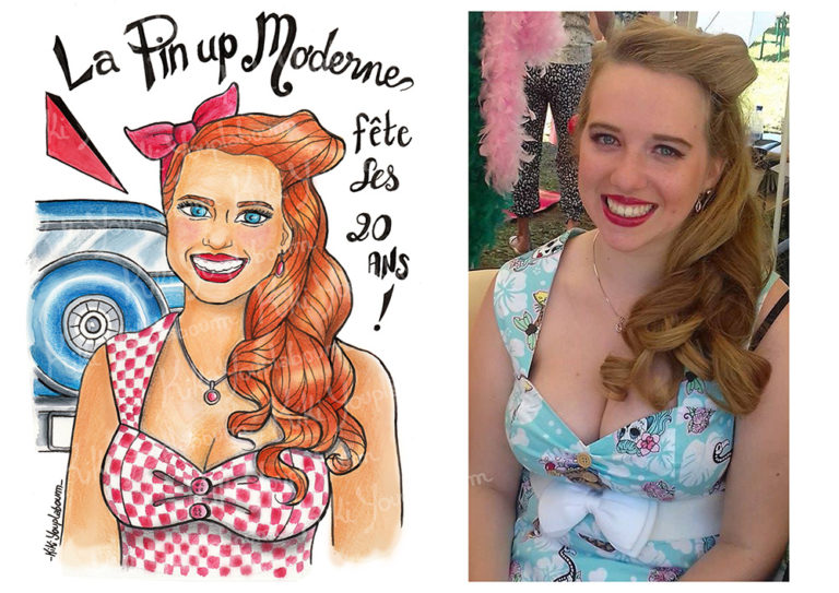illustration pin up personnalisée