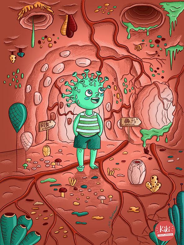 Illustration corona virus
