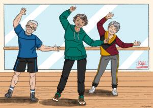 Illustration de l'activité danse seniors -Centre Social de Lunéville-
