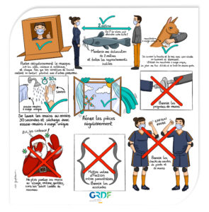 Planche BD GRDF gestes barrières