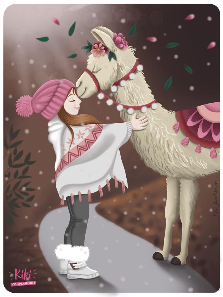 illustration lama